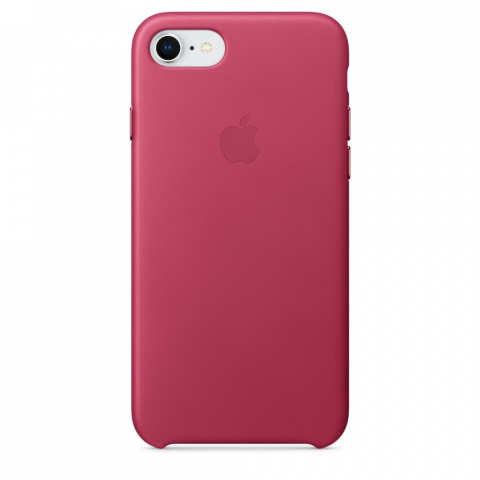 Чехол iPhone 8/7 - Leather Case - Pink Fuchsia (MQHG2)