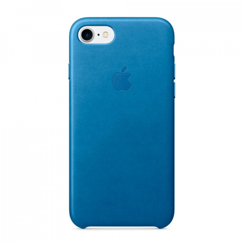Чехол iPhone 8/7 - Leather Case - Sea Blue (MMY42)