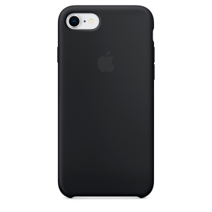 Чехол Apple Silicone Case iPhone 8/7 Black copi(A)