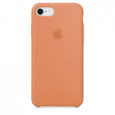 Чехол Apple Silicone Case iPhone 8/7 Peach copi(A)