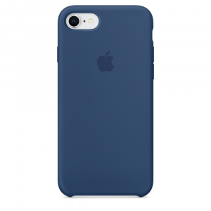 Чехол Apple Silicone Case iPhone 8/7 Blue Cobalt copi(A)