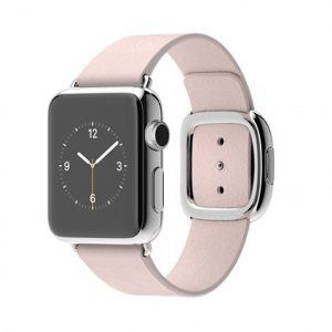 Ремешок  Apple watch Hermès Modern Buckle Leather 42mm Pink Sand copy(A)