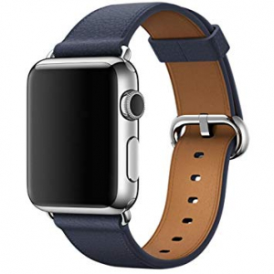 Ремешок  Apple watch Buckle Leather 38mm Dark Blue copy(A)