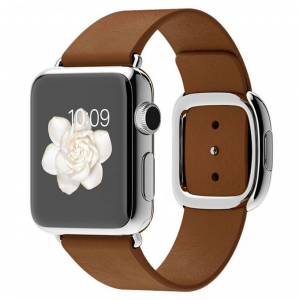 Ремешок  Apple watch Hermès Modern Buckle Leather 42mm Brown copy(A)